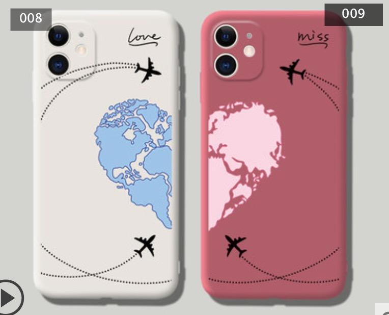 飛行機イラストスマホケース iphone12 Proピンク